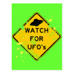 WATCH FOR UFO's Postcard