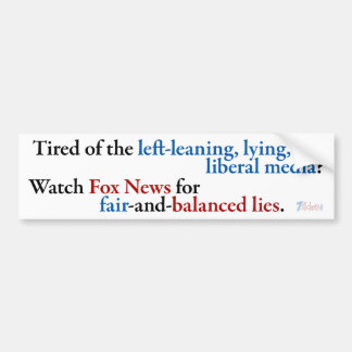 Watch Fox News Bumper Sticker