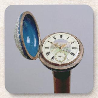 Watch gadget cane (cloisonne enamel) coaster