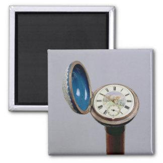 Watch gadget cane (cloisonne enamel) magnet