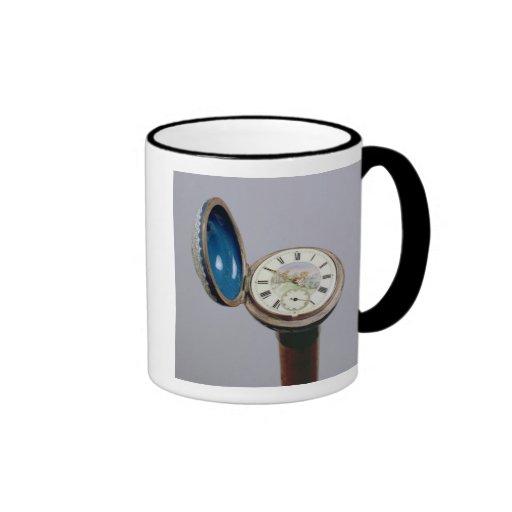 Watch gadget cane (cloisonne enamel) ringer coffee mug