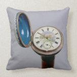 Watch gadget cane (cloisonne enamel) throw pillow