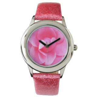 Watch - Glitter - Dark Pink Camellia 1