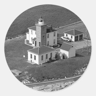 Watch Hill Lighthouse Classic Round Sticker