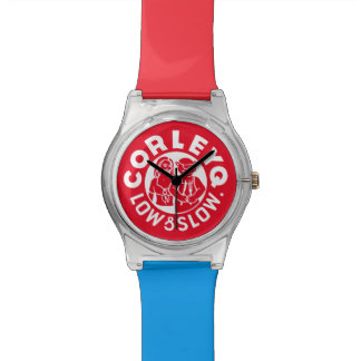 Watch in red w/ Mix 'n' Match color bands.