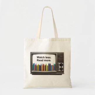 Watch less. Read more. Tote Bag