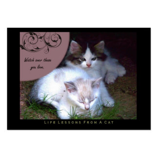 Watch Life Lessons From a Cat ACEO Art Cards Business Card