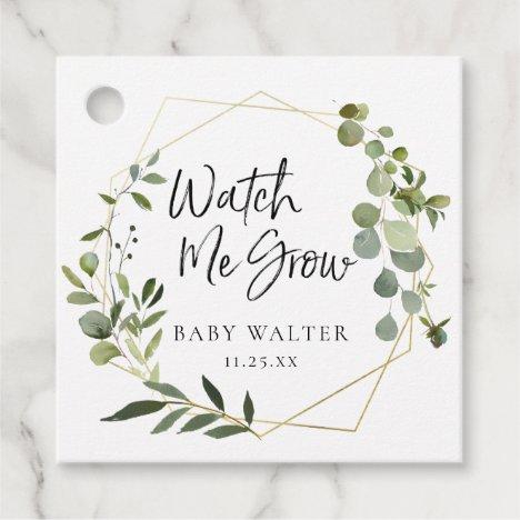 Watch Me Grow | Eucalyptus Baby Shower Favor Tag