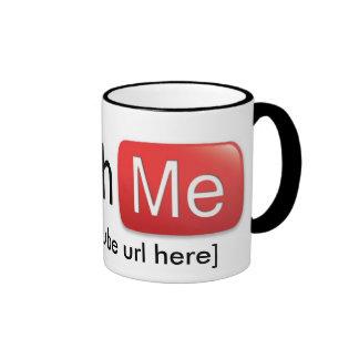 Watch Me on YouTube (Basic) Ringer Mug