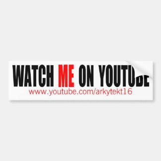 Watch Me on YouTube (Modern) Bumper Sticker