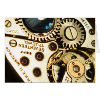 watch movement greeting card