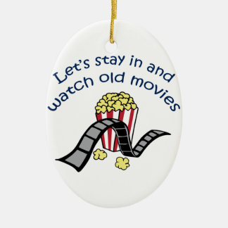 Watch Old Movies Ceramic Ornament
