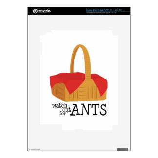 Watch Out For Ants Skins For iPad 3