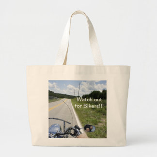 Watch out for Bikers Jumbo Tote Bag