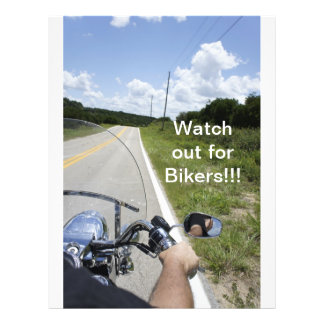 Watch out for Bikers Custom Flyer