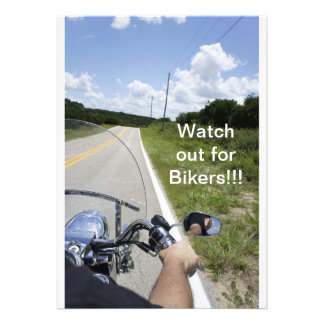 Watch out for Bikers Personalized Invitations