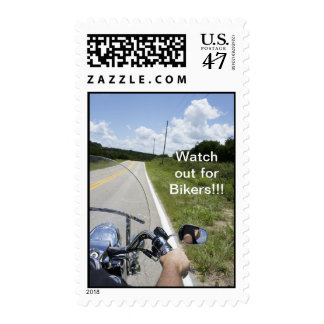 Watch out for Bikers Postage