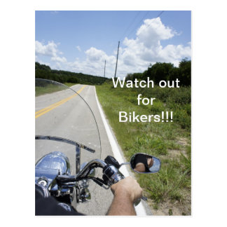 Watch out for Bikers Post Card