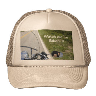 Watch out for Bikers Trucker Hat