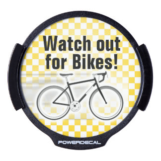 Watch Out for Bikes Light-Up Sign Share the Road LED Car Decal