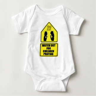 Watch Out for Children Praying Baby Bodysuit