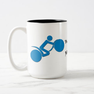 Watch Out For Motorcycles Two-Tone Coffee Mug