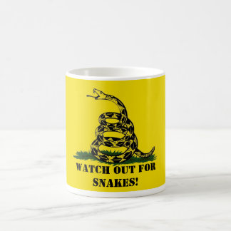 Watch out for snakes! coffee mug