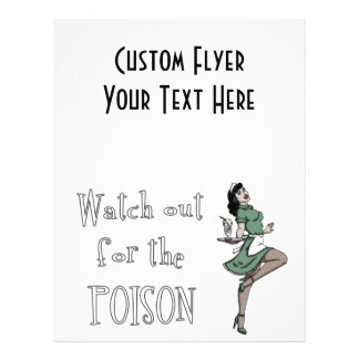 Watch Out For The Poison Retro Waitress - Color Flyer
