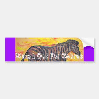 watch out for zebras car bumper sticker