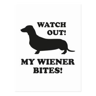 Watch Out! My Wiener Bites! Postcard
