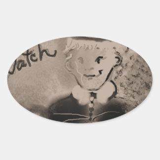 watch oval sticker