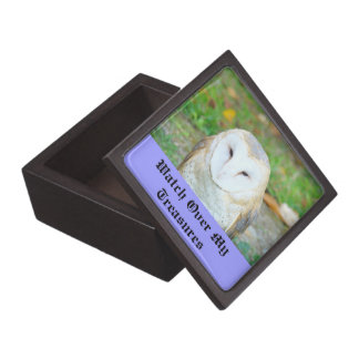 Watch Over My Treasures boxes White Owl Keepsakes