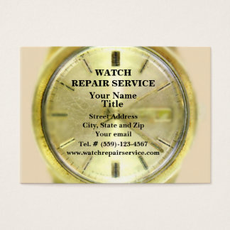 Watch Repair Business Card