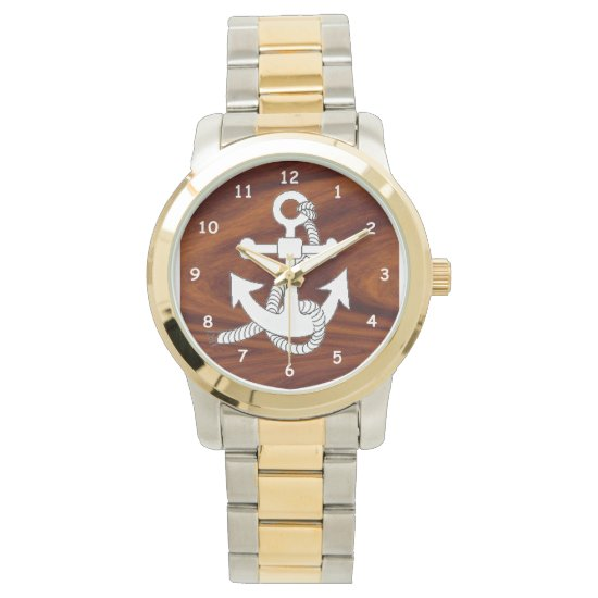 Watch - Ship Anchor on wood