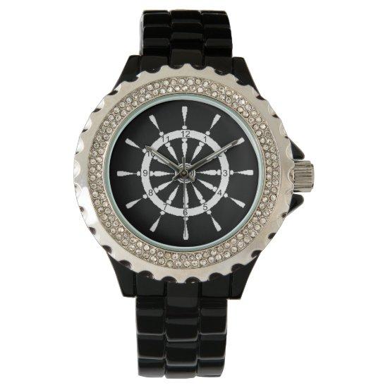 Watch - Ship Wheel - White