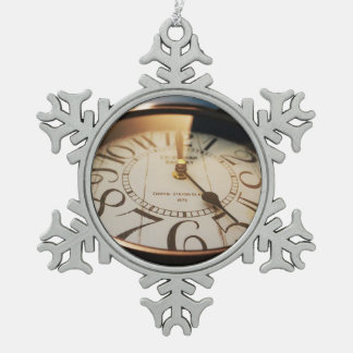 watch snowflake pewter christmas ornament