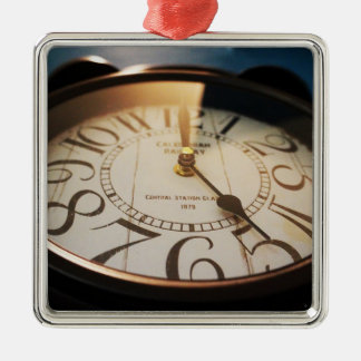watch square metal christmas ornament