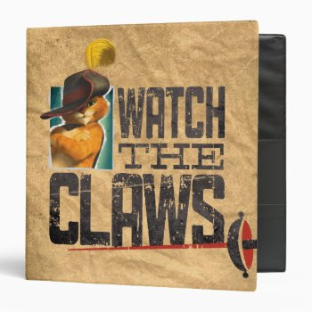 Watch The Claws Binder by pussinboots at Zazzle