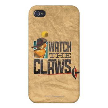 Watch The Claws Iphone 4/4s Cover by pussinboots at Zazzle