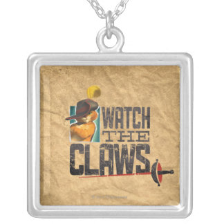 Watch The Claws Silver Plated Necklace