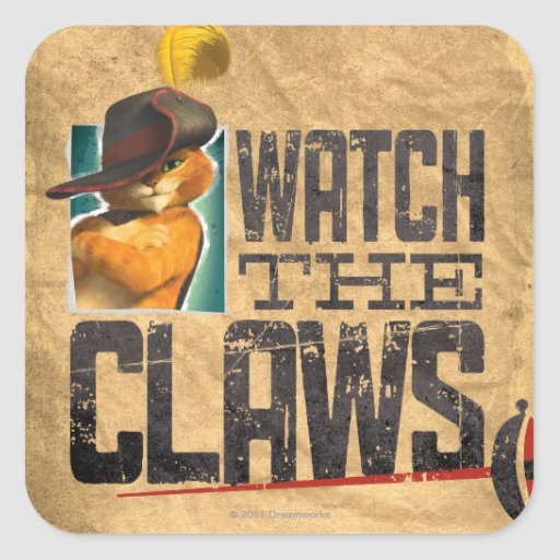 Watch The Claws Sticker