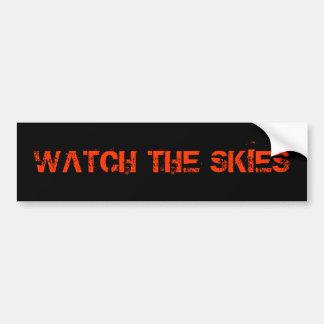 WATCH THE SKIES CAR BUMPER STICKER