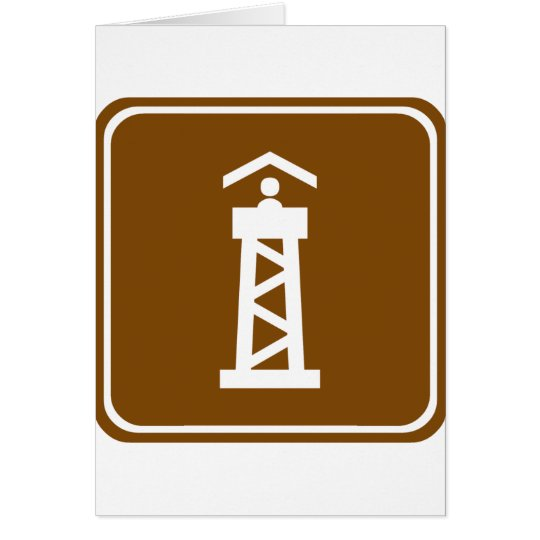 Watch Tower Highway Sign Card