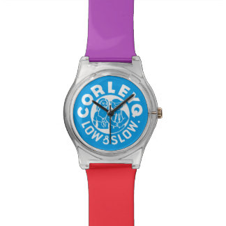 Watch w/ blue logo and Mix 'n' Match color bands.