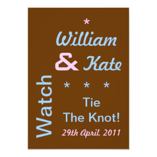 Watch William and Kate Tie The Knot Invite (5x7)