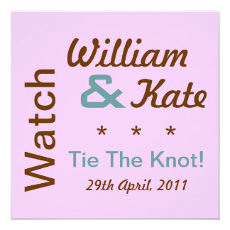 Watch William and Kate Tie The Knot Invite (Pink)