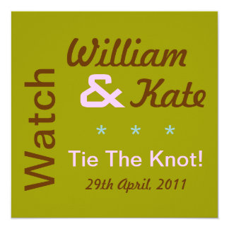 Watch William & Kate Tie The Knot Invitation (Mod)