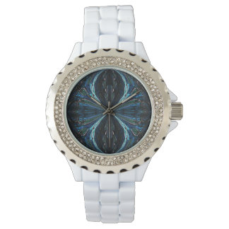 Watch with a digital art abstract design