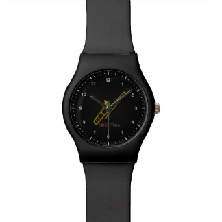Watch with illustration of a trombone
