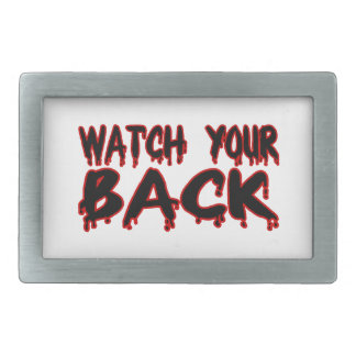 Watch Your Back Belt Buckle